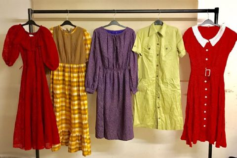 20 Vintage Dresses Retro Job Lot Wholesale Dress
